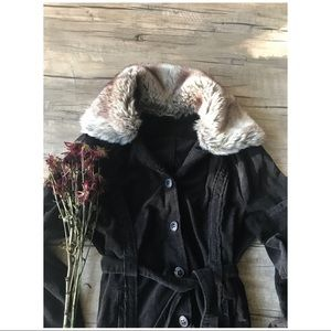 🐰90's VTG // Faux Fur Cord Jacket