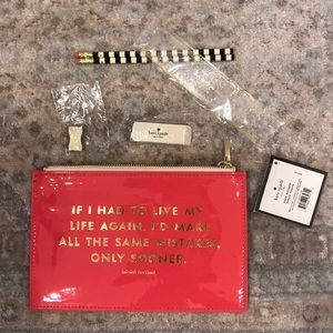 1 HR SALE Kate Spade Same Mistakes Pencil Pouch