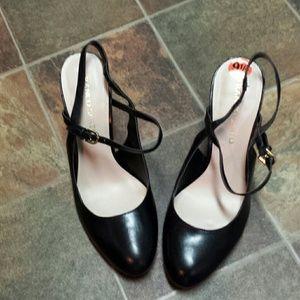 Franco Sarto Percy Strappy Round Toe Heels