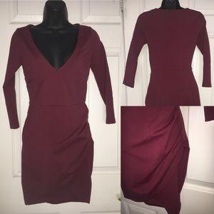 Formal Midi Red Nasty Gal Longsleeve Dress