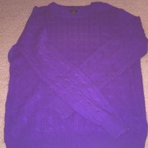Purple J Crew Sweater SIZE SMALL