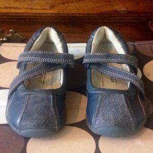 STRIDE RITE Blue Leather VelcroStrap Shoes EC 11.5