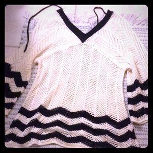 Sparkly, v neck sweater