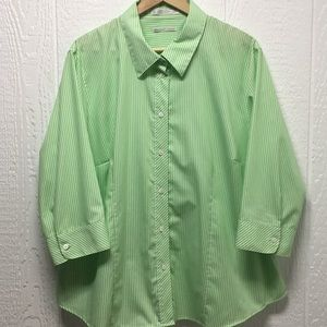 Lime Green Button-up