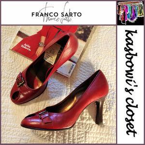 FRANCO SARTO Retro Look Peep Toe Heels 9M