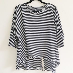 striped loose tee