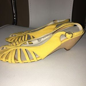 💕💕PRICED TO SELL! Merona Yellow Mary Janes!