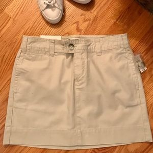 NWT Gap khaki mini skirt