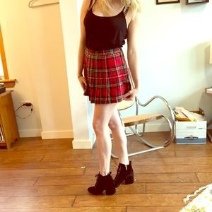 Urban Renewal plaid mini skirt.