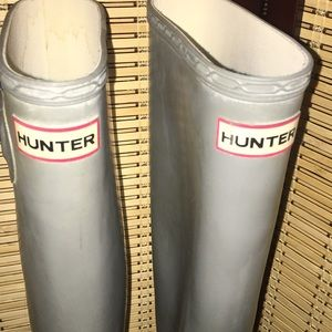 34 Off Hunter Boots Shoes Hunter Boots Grey Size 9 Tall From Steph S Closet On Poshmark