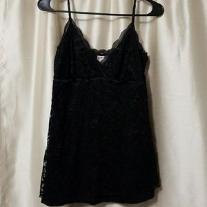Sexy black lace tank top by American Rag
