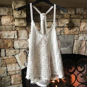 Women's, Free People, Crochet Cami, Size Small