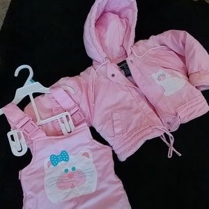 Vintage Shivers kitty snow suit.