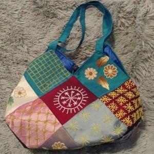 Vintage Patchwork Multi Fabric Bag