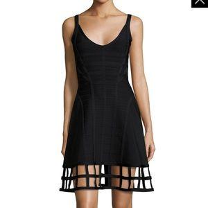 Herve Leger black cage dress