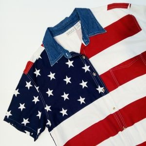 Vintage 90s American Flag Shirt