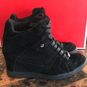 Coach Shoes - Coach Hidden High Heel Sneakers