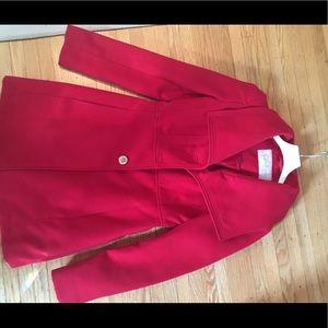 Beautiful red pea coat