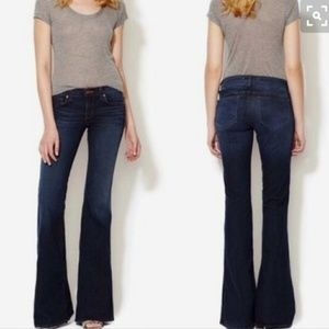 J BRAND 'Babe' Bell Flare Jeans in Starless