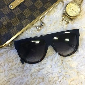 """Dark and Rich"" Flat top Sunglasses"