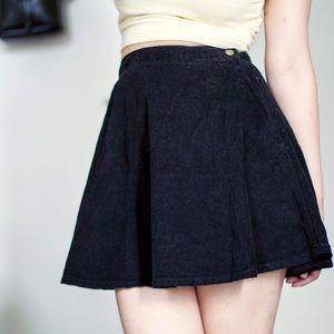 AA Black Corduroy Circle Skirt