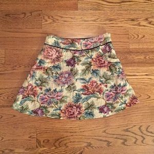FREE PEOPLE Deep Pockets Floral Winter Skirt