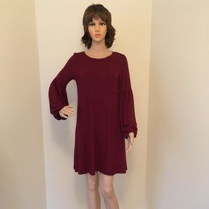 Women's puffy sleeve casual dress