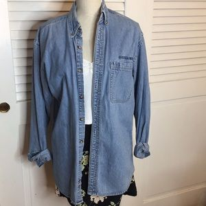 VINTAGE Denim Button Up Shirt