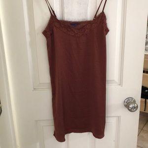 Aeropostale silk copper dress