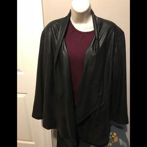 JM Collection- EUC faux soft leather blazer