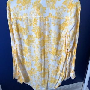 Yellow and white floral blouse J.Crew Factory
