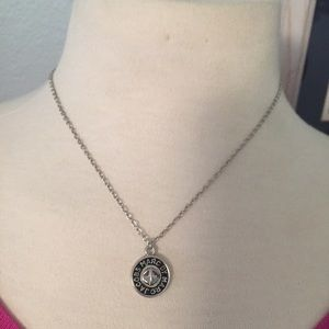 Marc by Marc Jacobs Silver & Black Button Necklace