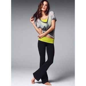 Victoria's Secret Yoga Pants Grey Green