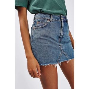 Topshop Moto denim skirt Size 6