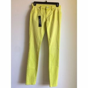Blank NYC Spray On Super Skinny Jeans Lime Yellow