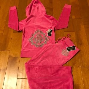 Juicy Couture glamour pink velour tracksuit S