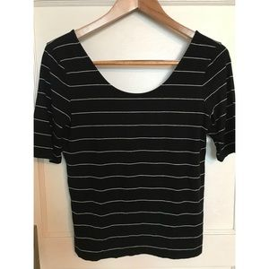 Super Soft Stretchy 1/2 Sleeve Striped Top