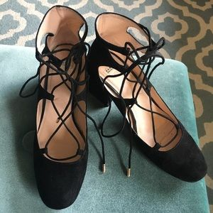Zara lace-up heels
