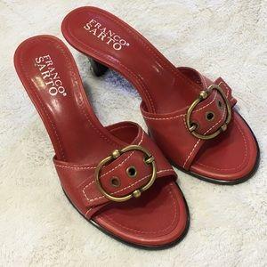 Franco Sarto Red heels open back/open toe size 5.5