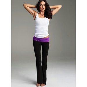 Victoria's Secret Yoga Pants Black Grey