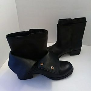 BCBGeneration black leather ankle boots