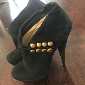 NEW Rachel Zoe Black Suede Platform Booties 7.5