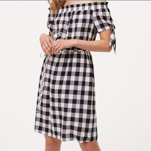 LOFT Tie Off Shoulder Dress