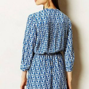 Anthropologie Maeve Women's Blue Galen Dress