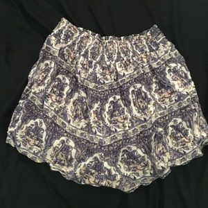 Out From Under Flowy Print Shorts