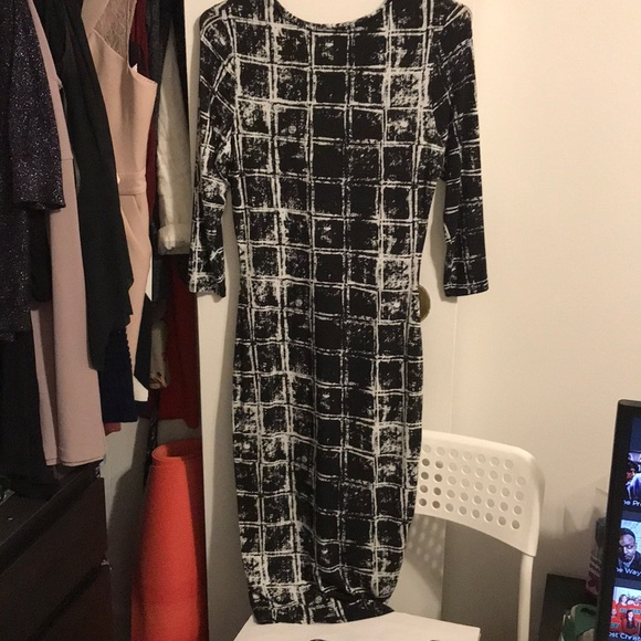 River Island Dresses Black And White Midi Dress Poshmark