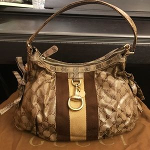 Auth pre-owned Gucci Hobo bag
