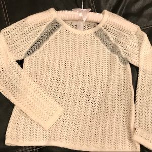 Design History Open Weave Sweater