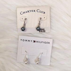 Two sets of dangling earrings