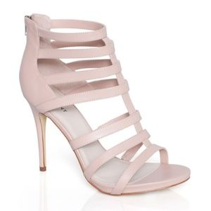 Shoemint Laura Light Pink Nude Gladiator Cage Heel